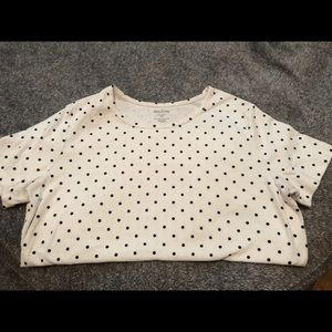 White Stag • White T with Black Polka Dots